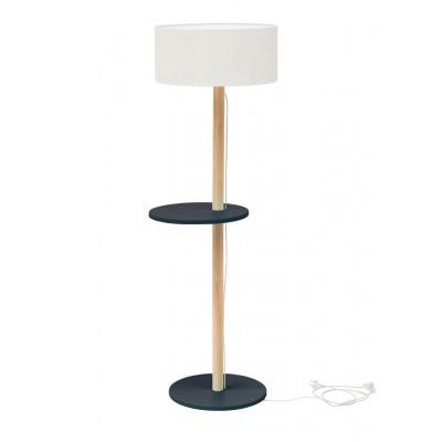 UFO Lamp | White Shade + Graphite Shelves