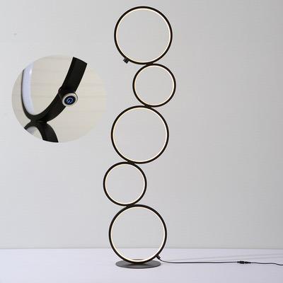 Stehleuchte Rings   Schwarz