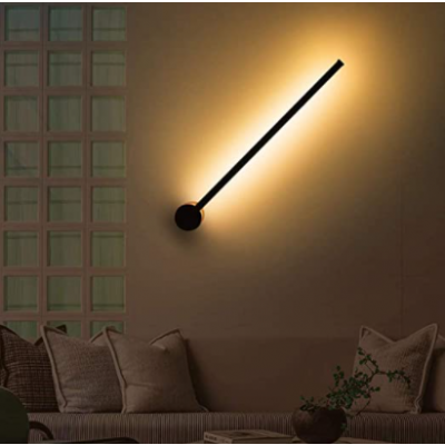 RGB Wandlampe Minimalist Laser 60 cm   Schwarz