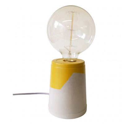 Vase Lamp   Concrete/Mustard