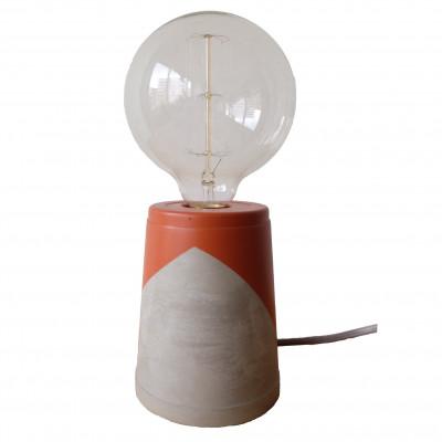 Vase Lamp   Concrete/Rust