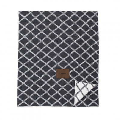 Merinowool Blanket | Dark Grey - White