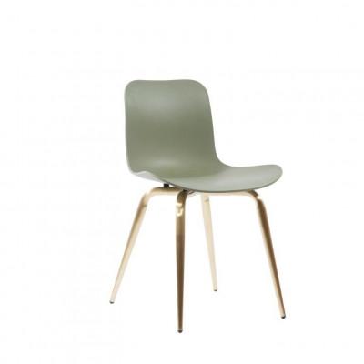 Langue Avantgarde Dining Chair Messing   Moosgrün
