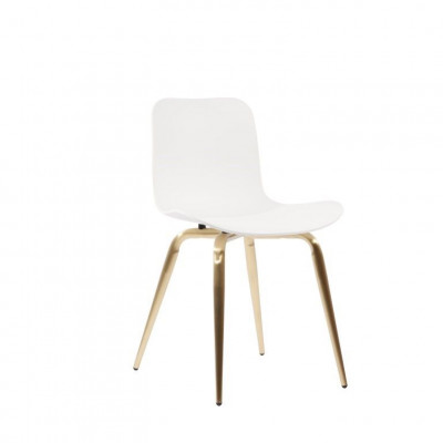 Langue Avantgarde Dining Chair Messing   Off White