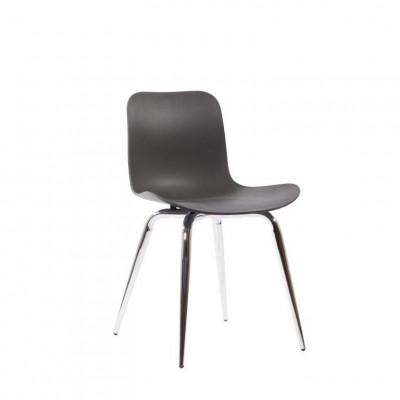 Langue Avantgarde Dining Chair Chrom   Anthrazit Schwarz