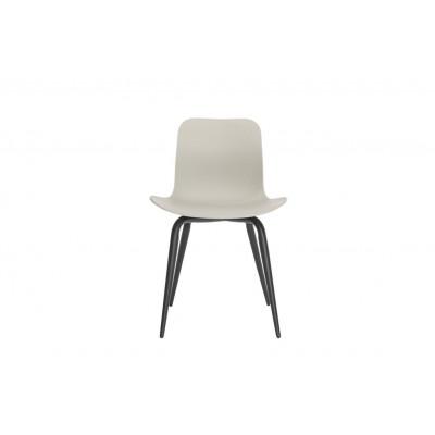 Langue Avantgarde Dining Chair Schwarz   Feuersteingrau