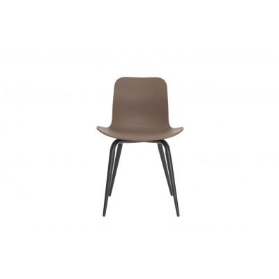 Langue Avantgarde Dining Chair Schwarz   Gargoyle Braun