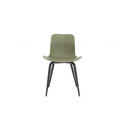 Langue Avantgarde Dining Chair Schwarz   Moosgrün