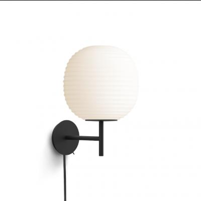 Lantern Wandleuchte Schwarzes Gestell | Weiß