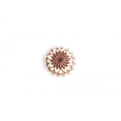 Holzaufsetzer Ornament Cubo-Blume