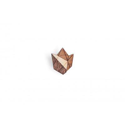 Hölzernes Revers-Ornament Floa