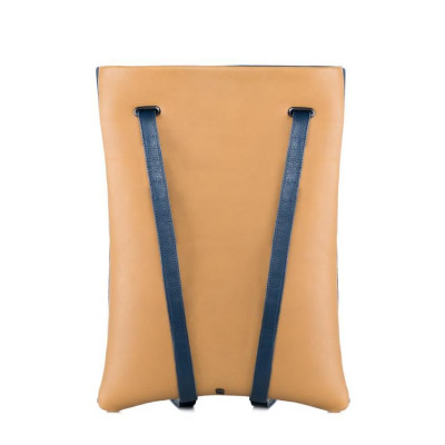 Laptop Backpack   Camel & Blue