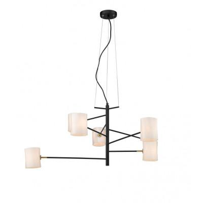 Pendelleuchte Large | 7 Lampe | Schwarz