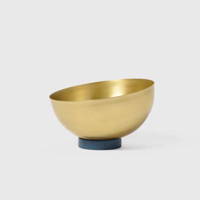 Large Brass Bowl   Navy