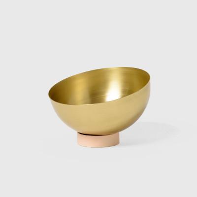 Large Brass Bowl   Peach