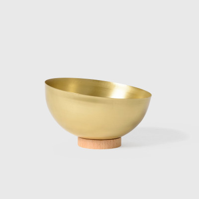 Large Brass Bowl   Natural
