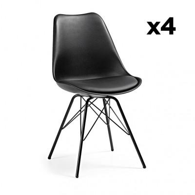 4er Set Stühle Lars | Schwarz
