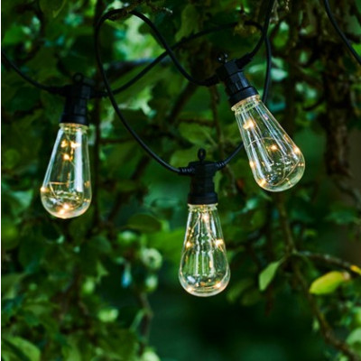 String Light Lasse Start Set 10 Lamps | Clear/Black