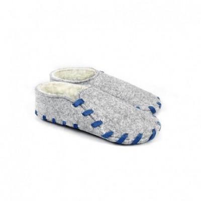 Lasso-Schuhe pelzig | Blau