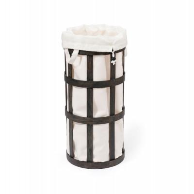Laundry Basket Cage | Dark Oak - Soft White