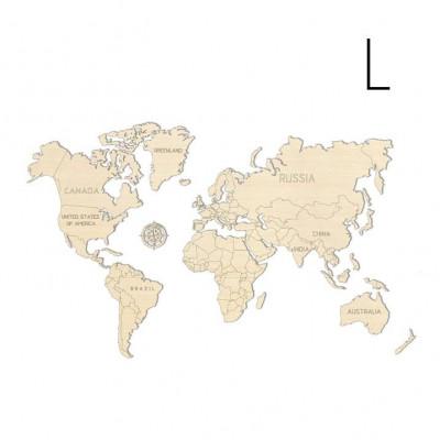 3D Puzzle Wood World Map | Large
