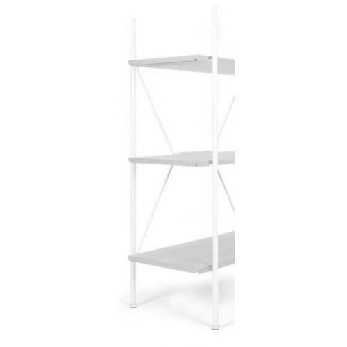 Lagerregalsystem Niedrige Leiter   Weiß