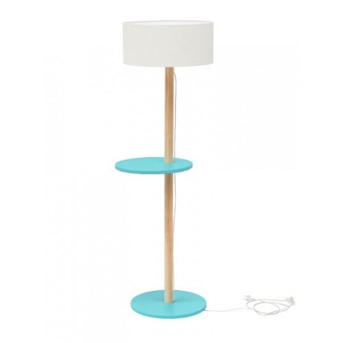 UFO Lamp | White Shade + Dark Turquiose Shelves