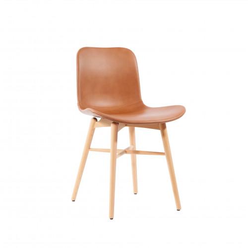Chaise Salle à Manger Langue Original Cuir | Brandy
