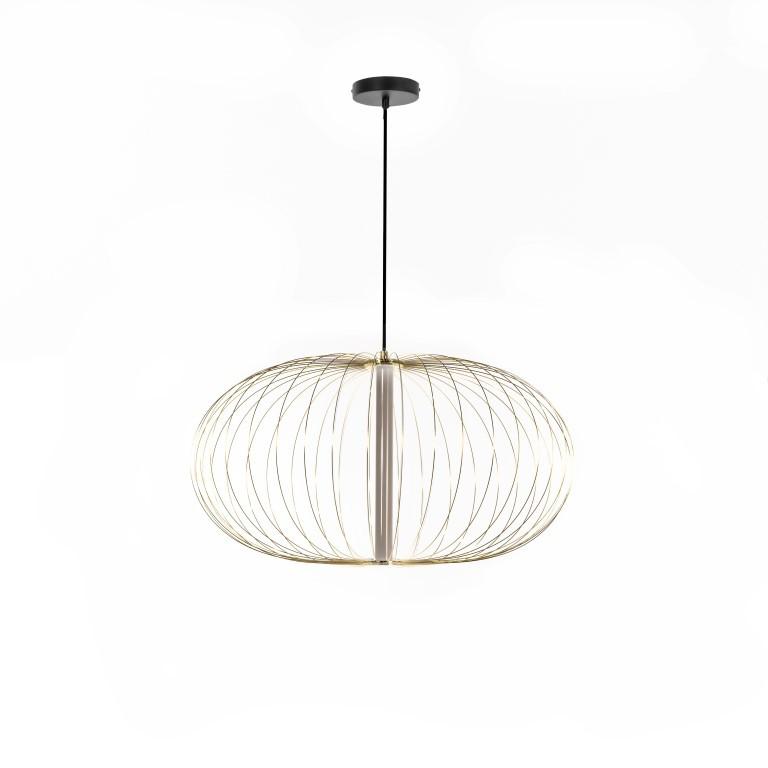 LED-Pendelleuchte LA142OR | Schwarz und Messing