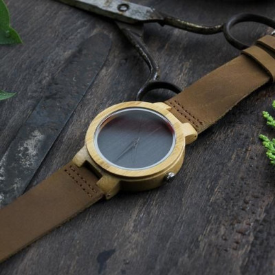 Wooden Watch | Light Brown Leather