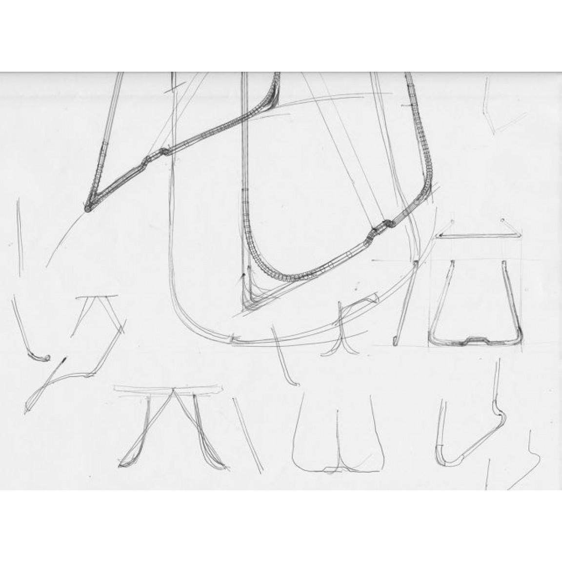 Modern Wood Side Table Sierra | Black Leather & Madera