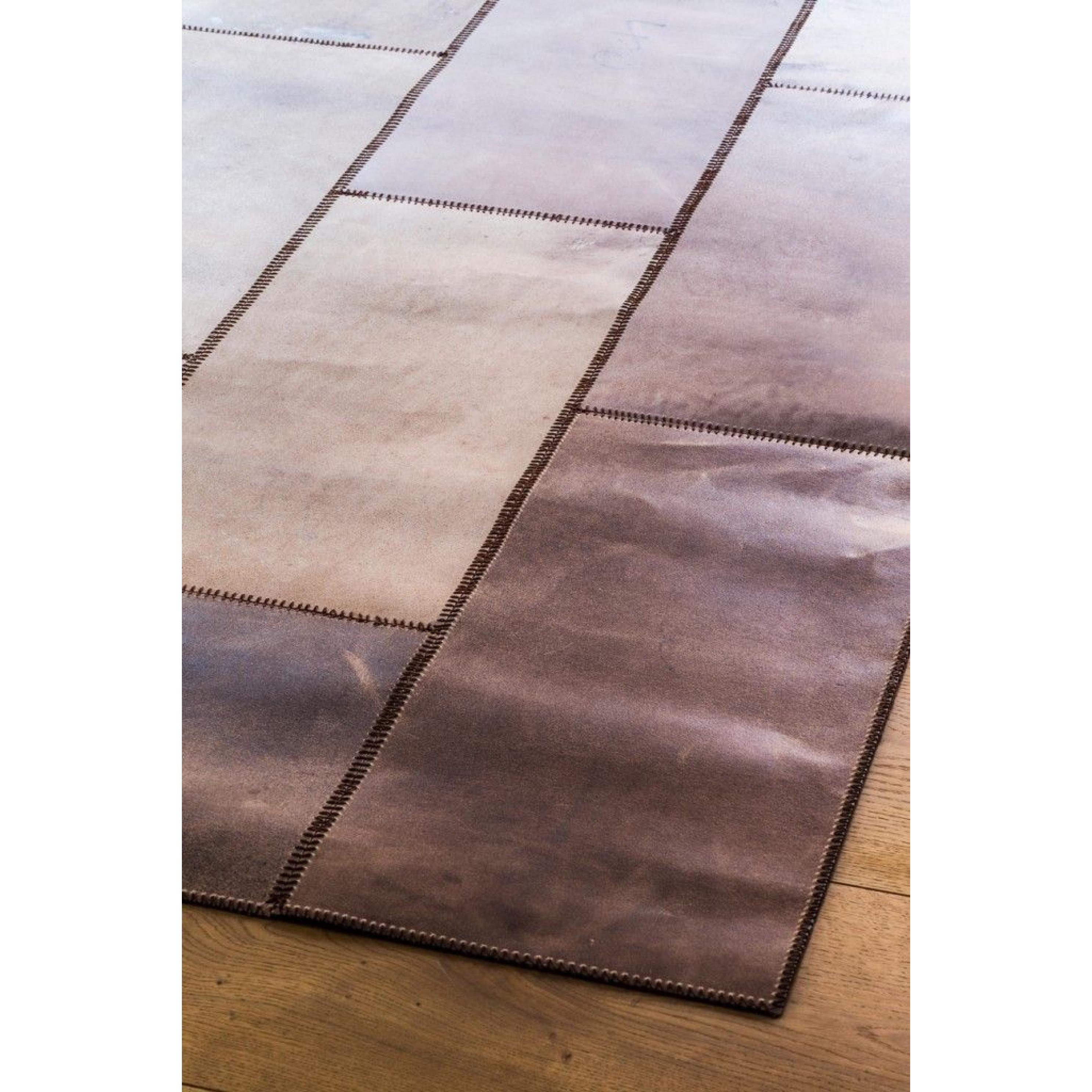 Lederteppich | Braun