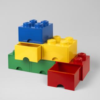LEGO Steinschublade 4 Knöpfe (1 Schublade)   Hellviolett