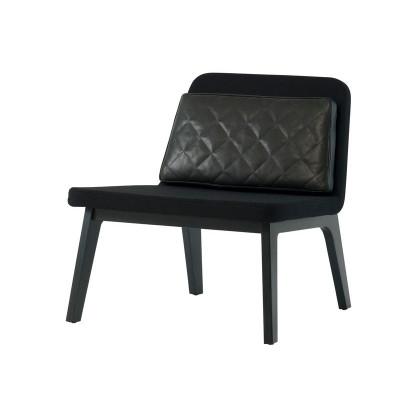 Lean Lounge Chair | Eiche schwarz lackiert/Schwarz