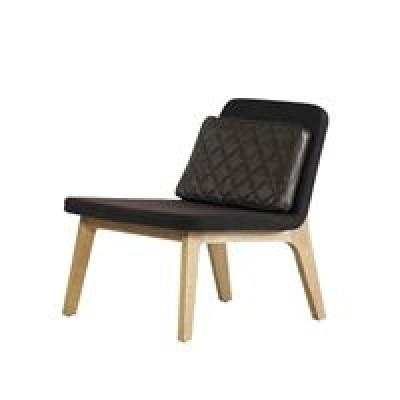 Lean Lounge Chair | Eiche/Schwarz