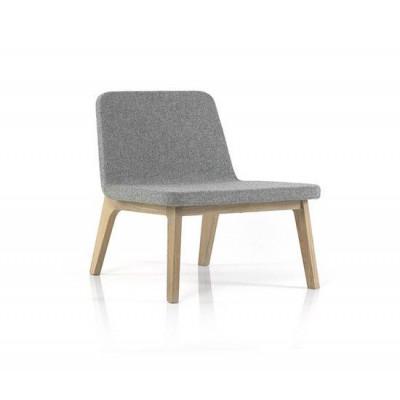 Lean Lounge Chair | Eiche/Grau