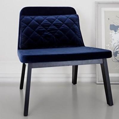 Lean Lounge Chair | Eiche schwarz/nachtblau