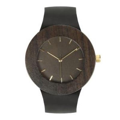 Carpenter Watch | Leder & Schwarzholz