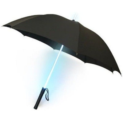 Regenschirm 3 Led | Schwarz