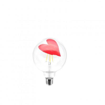 Glühbirne Tattoo Lamp Heart