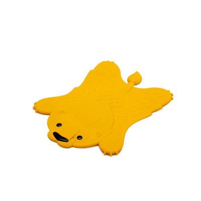 Hot Pot Trivet Leo   Yellow