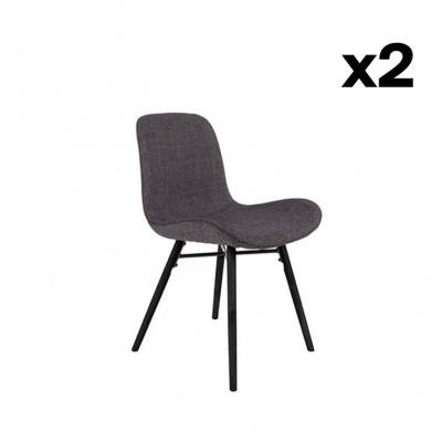 2-er Set Stühle Lester | Anthrazit