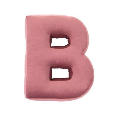 Buchstabenkissen Samt Pink   B