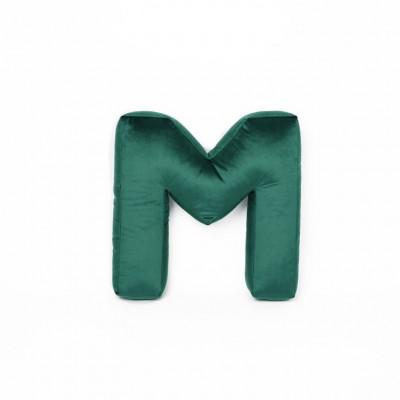 Buchstabenkissen Samt Grün   M