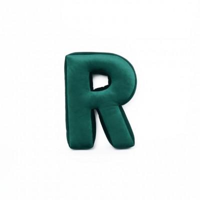 Buchstabenkissen Samt Grün   R