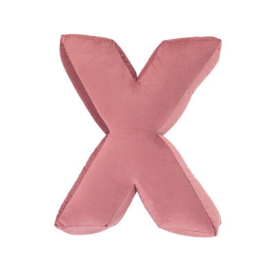 Buchstabenkissen Samt Rosa | X