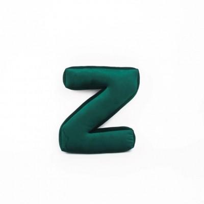 Buchstabenkissen Samt Grün   Z