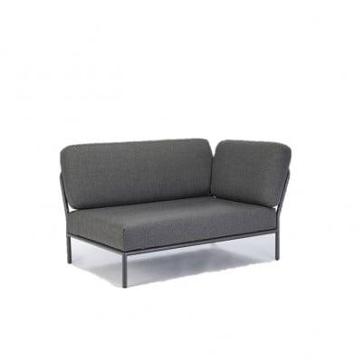 Außensofa Rechte Ecke Level | Grau