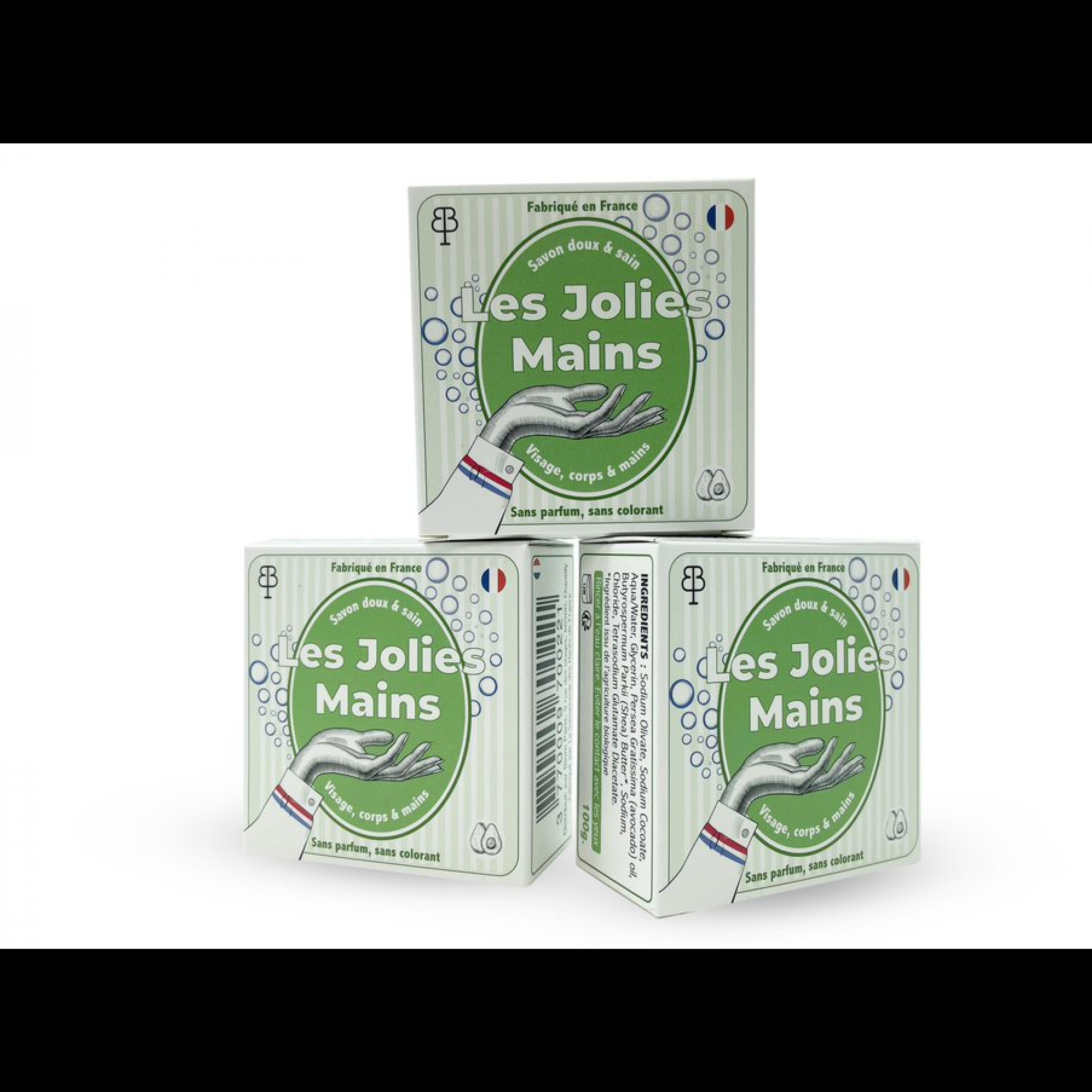 Handseife Les Jolies Mains   Sheabutter/Olivenöl