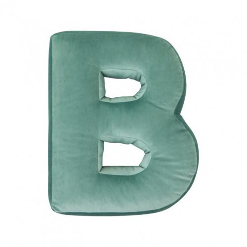 Buchstabenkissen Samt Mint | B